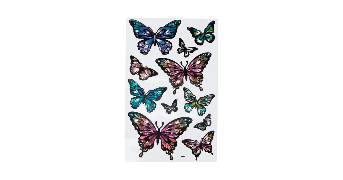 Avery Zweckform Etiketten Aufkleber Sticker Schmetterlinge bunt 42 Stück Deko