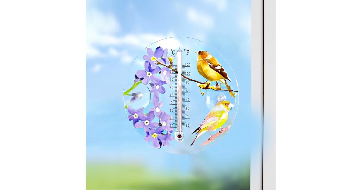 fenster thermometer vogel online kaufen die moderne hausfrau. Black Bedroom Furniture Sets. Home Design Ideas