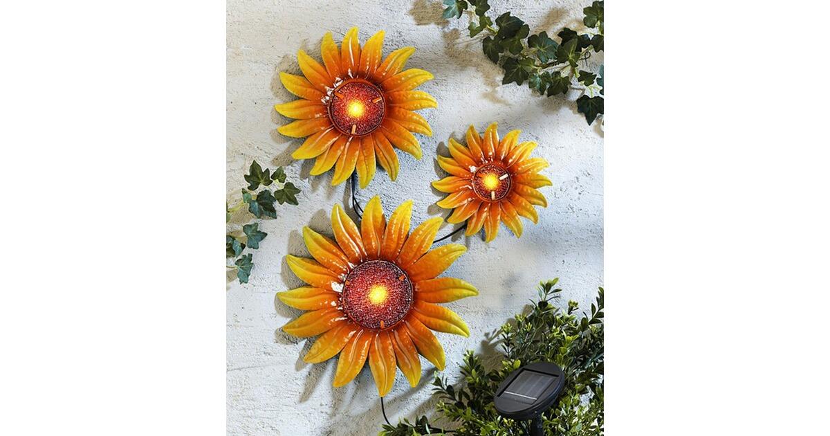 Solarwanddeko Sonnenblumen,3er-Set online kaufen | Die moderne Hausfrau