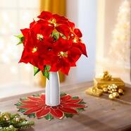 LED-Weihnachts-Läufer Christstern Weihnachten Tischläufer Mittel-Tischdecke