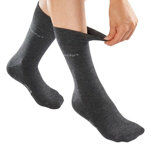 wonderWALK  Komfort-Socken, 2 Paar  anthrazit