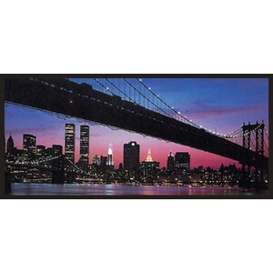 Bild New York by night 124x56 cm 1