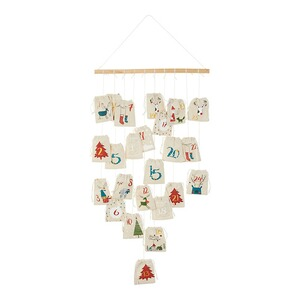Adventskalender 'Kerstboom'  beige 1