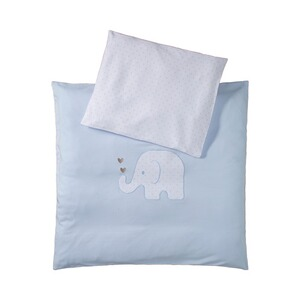 BORNINO HOME  Jersey-Bettwäsche Elefant 35x40 / 80x80 cm