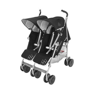 MACLAREN  La poussette double Twin Techno modèle 2016  Black
