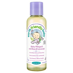 LANSINOH EARTH FRIENDLY BABY Pflegeöl mit Shea & Lavendel 125 ml