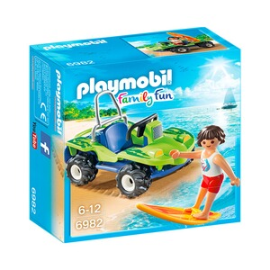 PLAYMOBIL® FAMILY FUN 6982 Surfer mit Strandbuggy