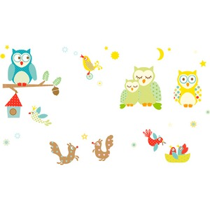 ANNA WAND DESIGN  33tlg. Wandsticker Maxis Funny Forest