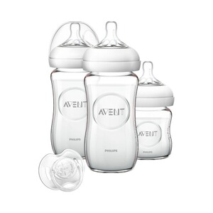 PHILIPS AVENT  3tlg. Neugeborenen-Set, SCD291/02, Glas, 125-240ml