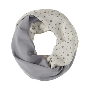 2HEARTS WE LOVE BASICS L'écharpe d'allaitement Pois  All Over Print Stars Grey