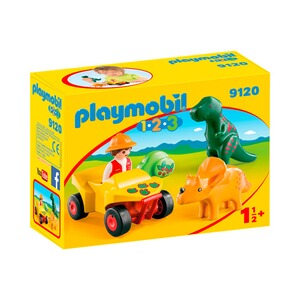 PLAYMOBIL® 1.2.3 9120 Dinoforscher mit Quad