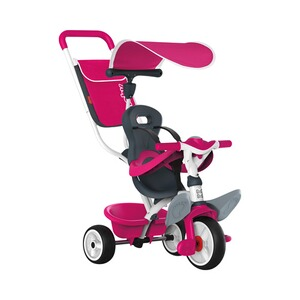 SMOBY  Le tricycle Baby Balade  rose vif