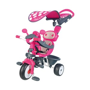 SMOBY  Le tricycle Baby Driver Confort 4 en 1  rose vif