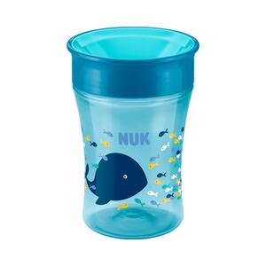NUK  Trinklernbecher Magic Cup 230ml  blau/türkis