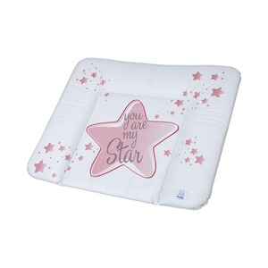 ROTHO BABYDESIGN  Matelas à langer You are my Star 72x85 cm  swedish rose