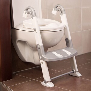KIDSKIT  Toiletten-Trainer Kids Kit  3-in-1  silbergrau/weiß