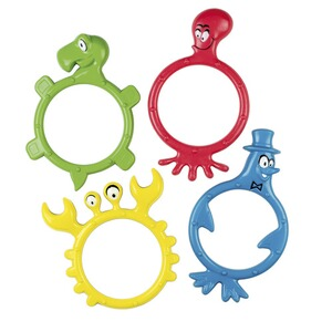 BECO  4er-Pack Tauchmonster in Ringform