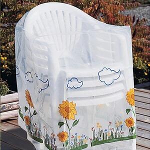 Abdeckhaube Für 4 Gartenstühle Sonnenblume