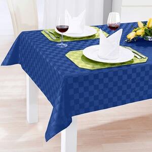 vivadomo jacquard tischdecke spezial blau online kaufen die moderne hausfrau. Black Bedroom Furniture Sets. Home Design Ideas