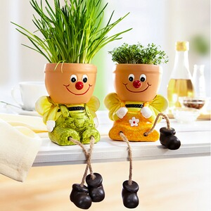 Duo de pots « Abeilles », lot de 2
