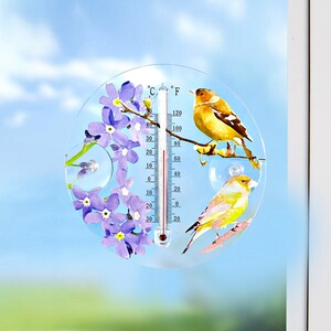"Fenster-Thermometer ""Vogel"""