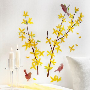Wandstickers Forsythia