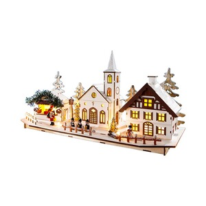 Village en bois LED