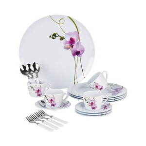 "Koffieservies ""Orchidee"", 20-delig"