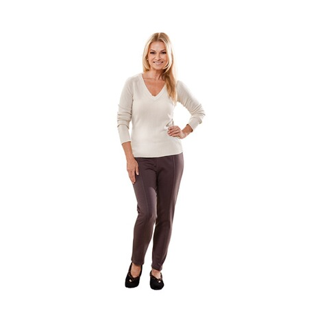 Jersey-Hose  taupe 2