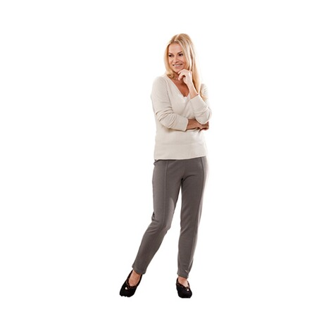 Jersey-Hose  taupe 4
