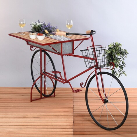 Plantenbakfiets  rood 2