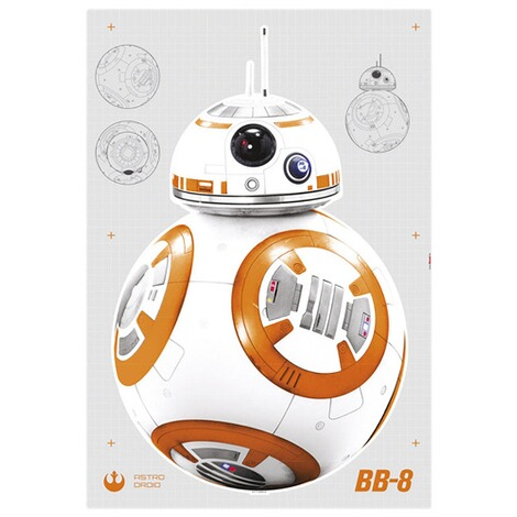 KOMARWandtattoo Star Wars BB-8 100x70 cm, 6-tlg. 2
