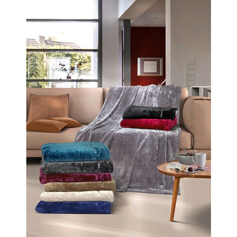 TOM TAILORAngorina-Fleece-Decke. 150x200 cm  off-white 5