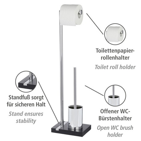 WENKOStand WC-Garnitur Noble Black 3