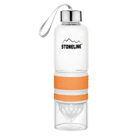 STONELINE2 in 1 Trinkflasche mit Saftpresse, orange 1
