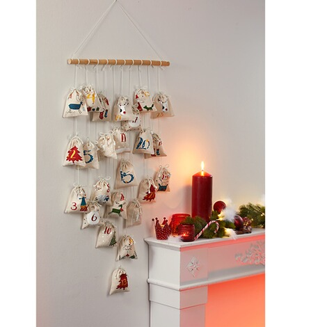 Adventskalender 'Kerstboom'  beige 2