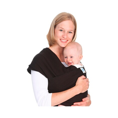 MOBY WRAP  Babytragetuch Moby Wrap Classic  black 1