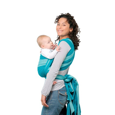AMAZONAS TREND LINE Babytragetuch Carry Sling 510cm  petrol/türkis 2