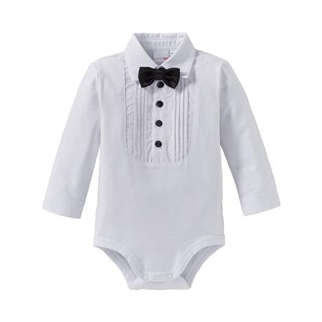 bornino festliche mode body langarm hemd mit fliege online kaufen baby walz. Black Bedroom Furniture Sets. Home Design Ideas