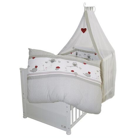 roba babybett mit ausstattung adam eule 70x140 cm online kaufen baby walz. Black Bedroom Furniture Sets. Home Design Ideas