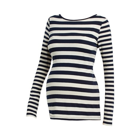 2HEARTS  Umstands-Shirt langarm Maritime Stripes 1