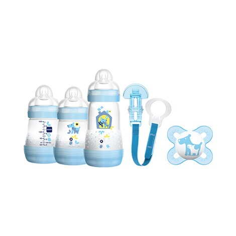 MAM  5-tlg. Starter-Set Welcome to the world 160-260ml, Kunststoff  blau 1