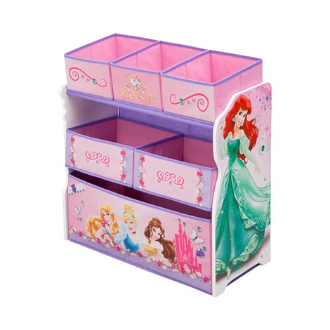delta children disney princess aufbewahrungsregal mit 6. Black Bedroom Furniture Sets. Home Design Ideas