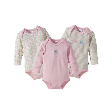 BORNINO BASICS 3er-Pack Bodys langarm 1