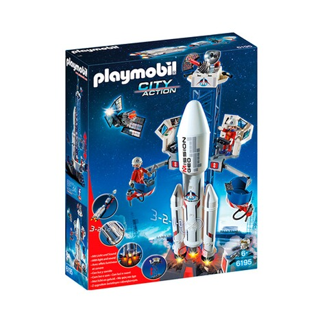 PLAYMOBIL® CITY ACTION 6195 Weltraumrakete mit Basisstation 1