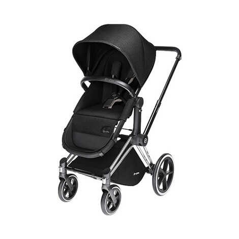 CYBEX PLATINUM Priam Kinderwagenaufsatz & 2-in1 Light Sitz  Happy Black 1