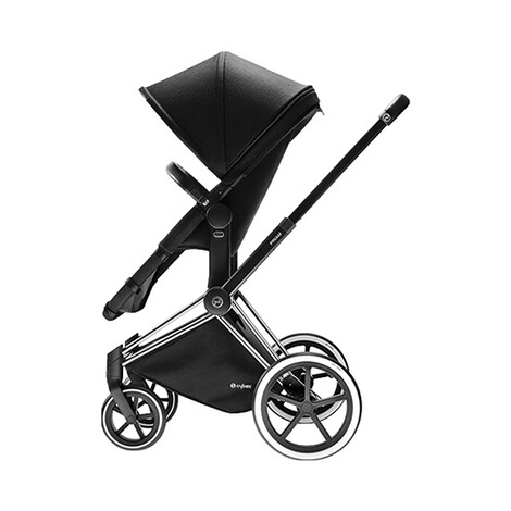 CYBEX PLATINUM Priam Kinderwagenaufsatz & 2-in1 Light Sitz  Happy Black 3