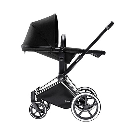 CYBEX PLATINUM Priam Kinderwagenaufsatz & 2-in1 Light Sitz  Happy Black 4