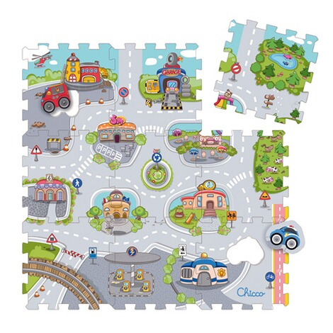 CHICCO  9tlg. Puzzlematte City 1