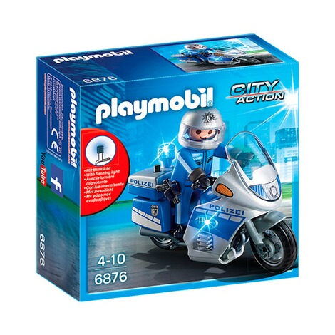 PLAYMOBIL® CITY ACTION 6876 Motorradstreife mit LED-Blinklicht 1